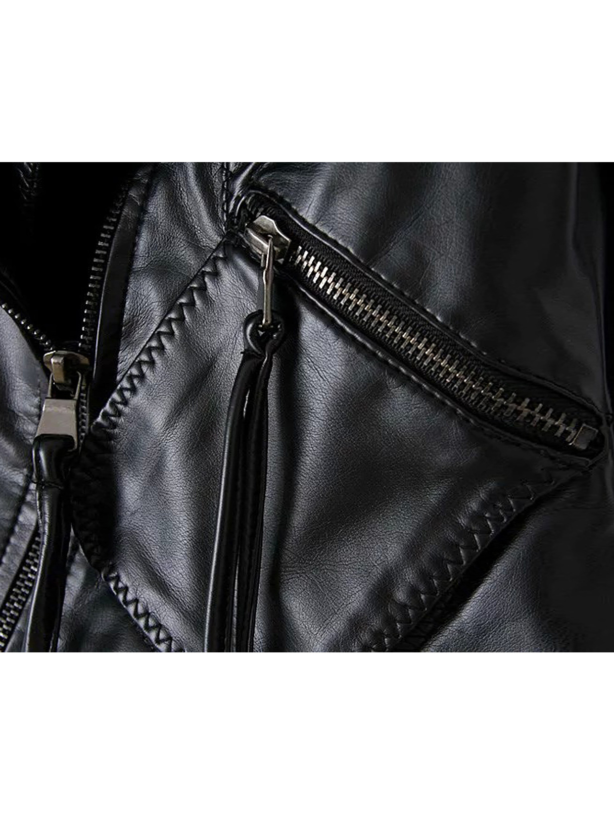 Leather Jacket with Zip Detail от Yoins.com INT