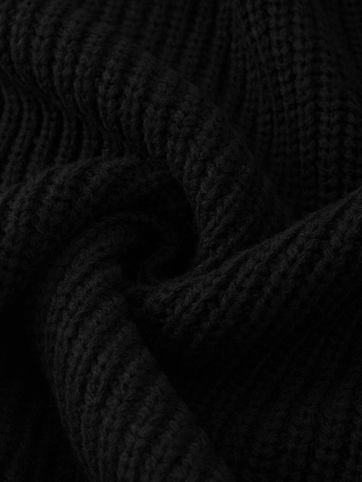 Black Cable Knit V-neck Long Sleeves Sweaters от Yoins.com INT