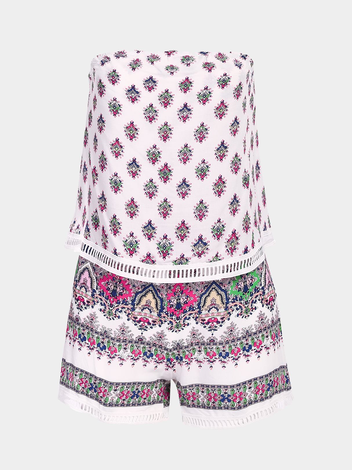 Bohemian Print Off The Shoulder Playsuit i want to go to the fair