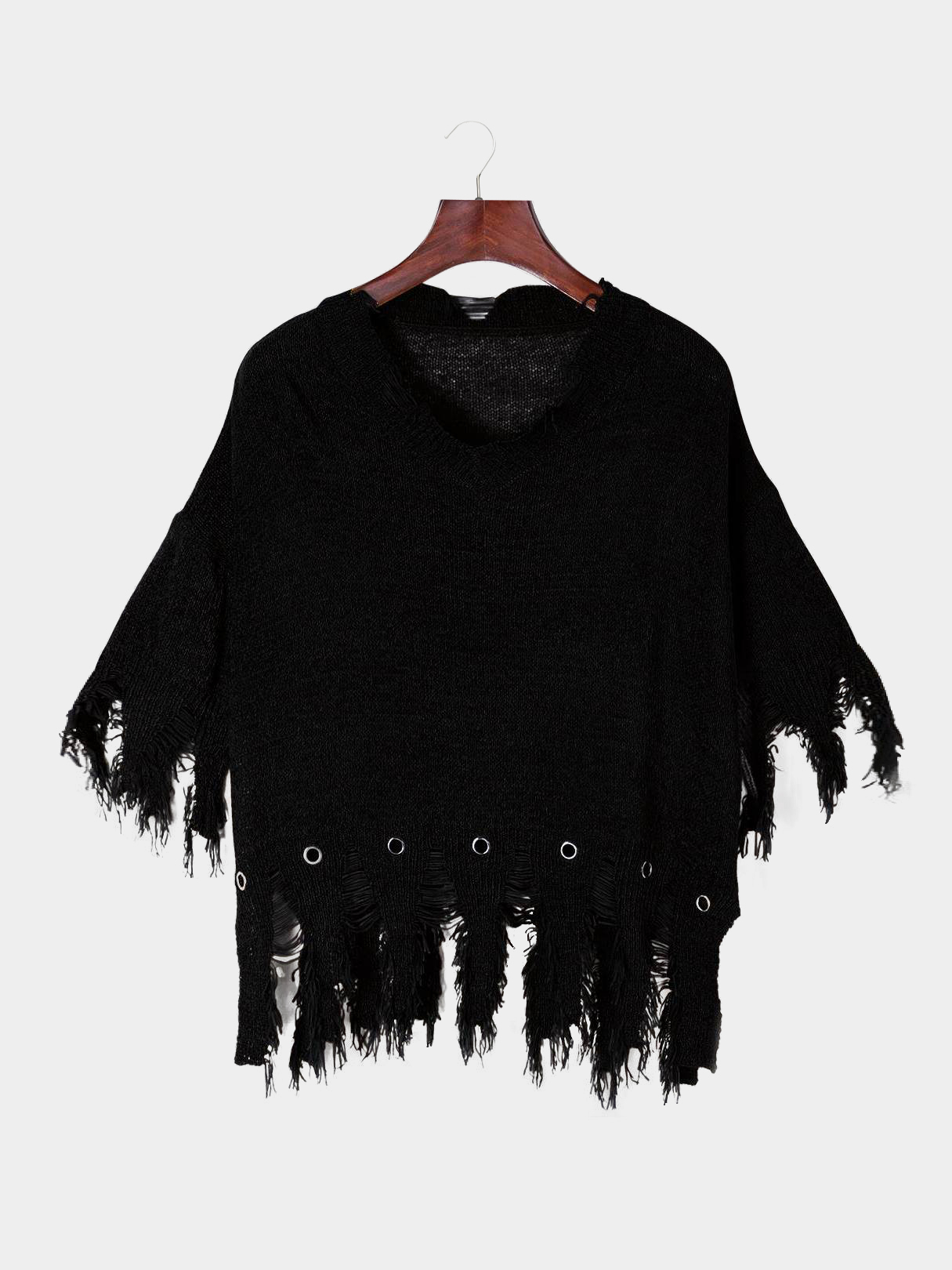 Black Ripped Details Tassel Design Loose Smock 2016 summer style women s fashion vintage tassel ripped loose high waisted short jeans punk sexy hot woman denim shorts