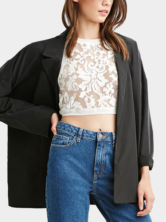 White See Through Lace Details Crop Top see inside famous palaces