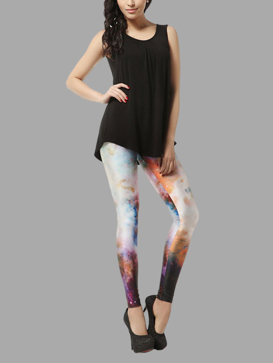 Basic Leggings in Multi Color Print