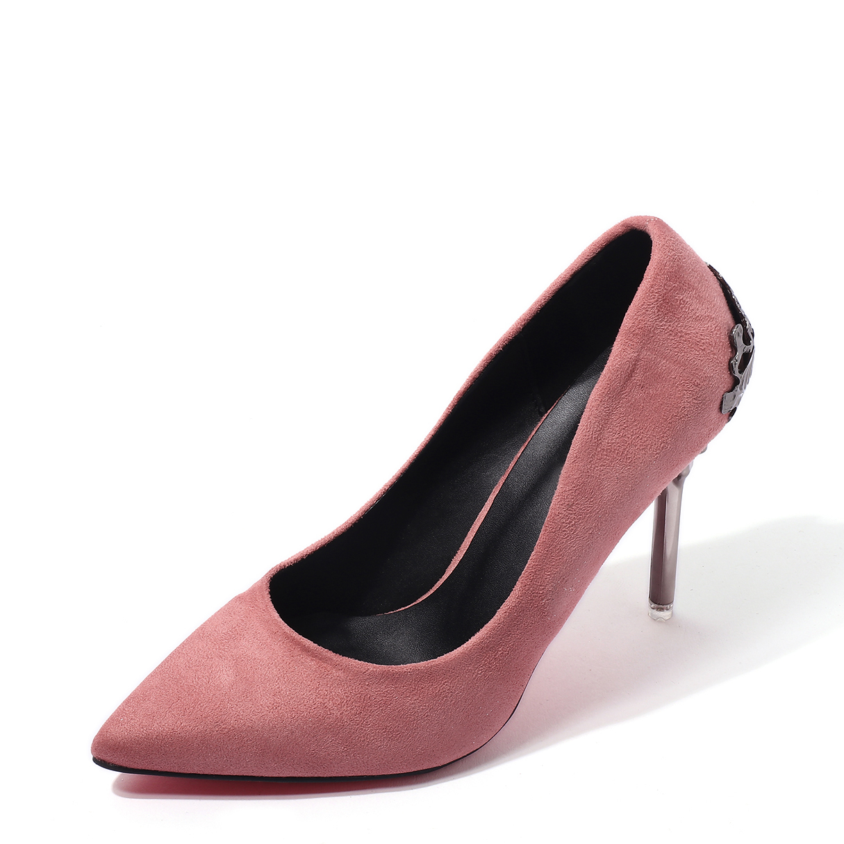 Pink Wedding Frosted Suede Stiletto Solid Color Pumps spring autumn fashion pointed toe high heels solid causal women pumps shoes faux velvet female work pumps wedding shoes 302 1ve