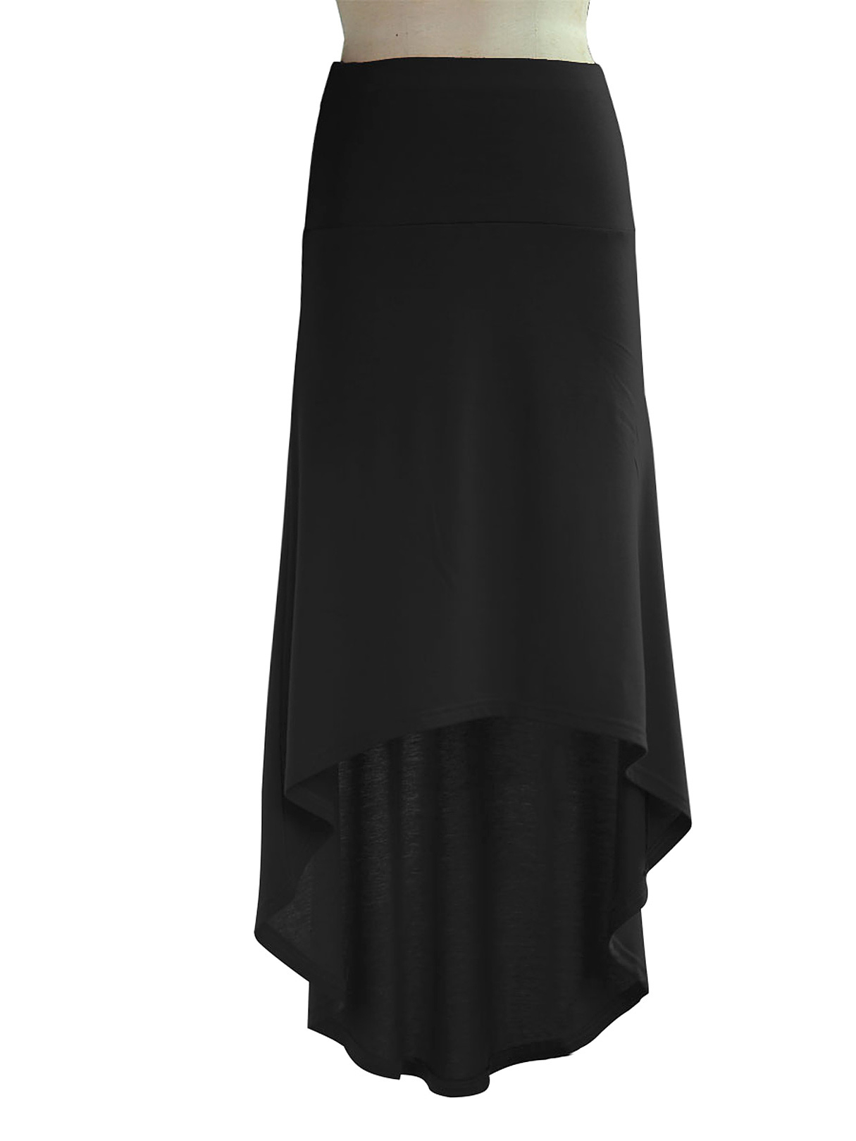 Black High-low Hem Pencil Skirt knotted cropped top and pencil skirt