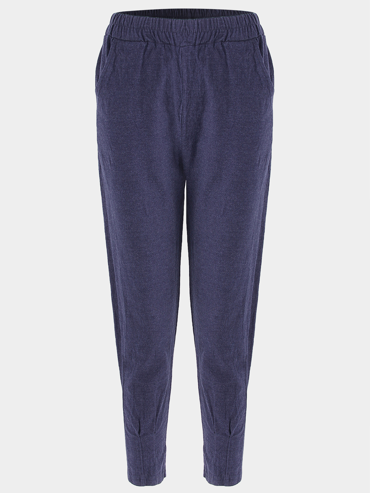 Navy High-rise Two Side Pockets Drainpipe Jeans