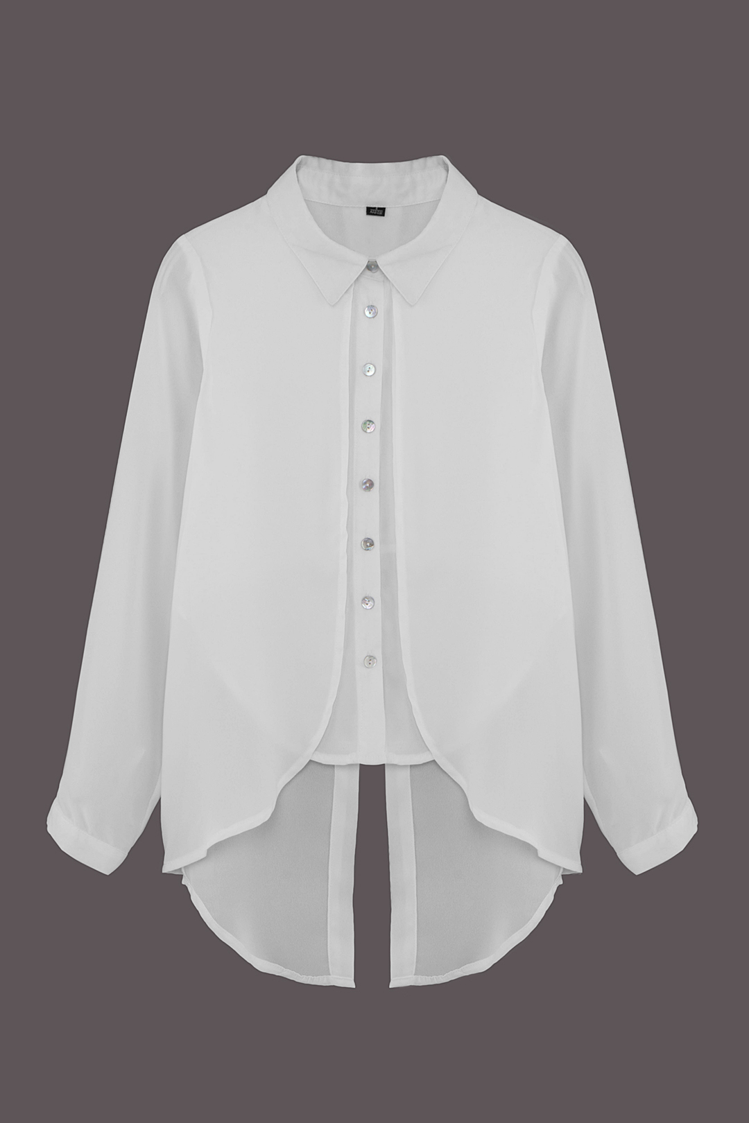 White Cape Shirt with Back Split