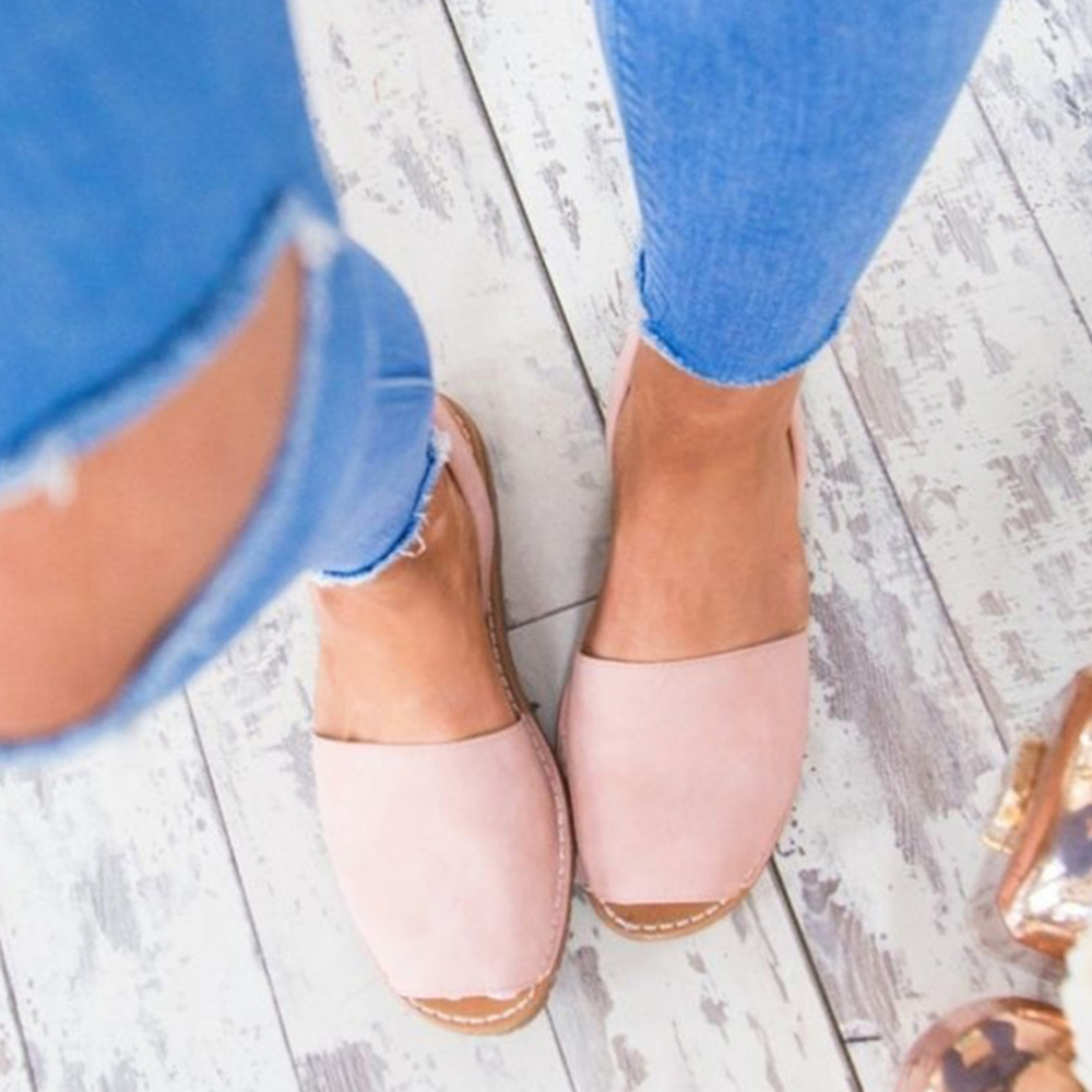 Pink Gladiator Style Peep Toe Flat Sandals 2018 new hot summer rome solid color strap ankle flat women sandals fashion leisure peep toe gladiator party woman shoes a175