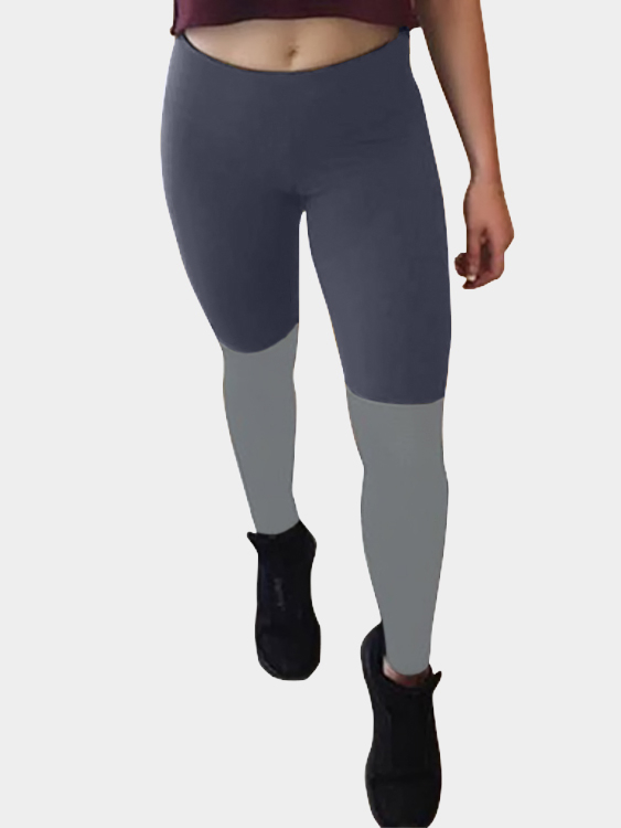 Active Heart Pattern Stitching High Waist Sports Leggings in Blue active net yarn stitching high waisted sports leggings in grey