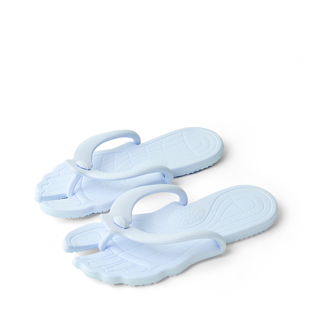 Fashion Light Blue Casual Thong Flat Slippers 1 set fashion pink casual wear outfit for 18 inch american girl gifts for kids