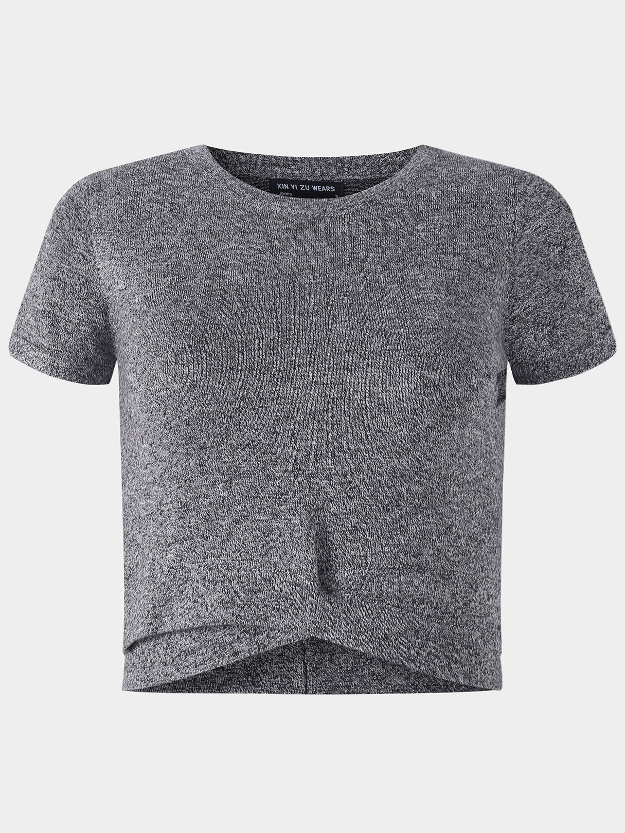 Active Round Neck Cut Out T-shrits in Grey active round neck cut out t shirts in white