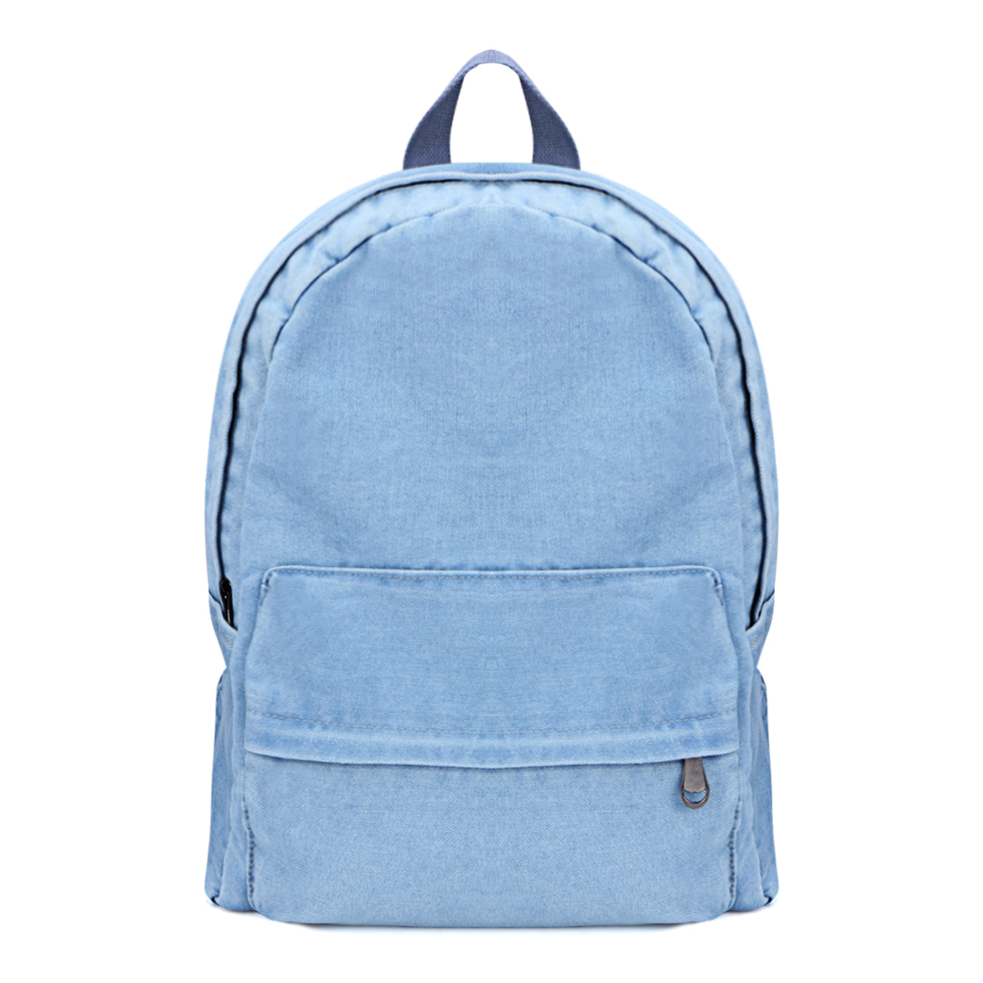 Denim Backpack in Light Blue