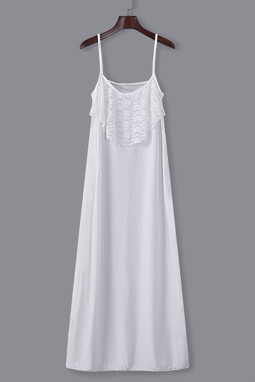 White Maxi Dress with Twin Adjustable Straps