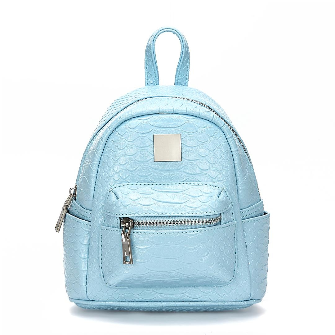 Croc Leather Look Mini Backpack In Light Blue Us 33 95