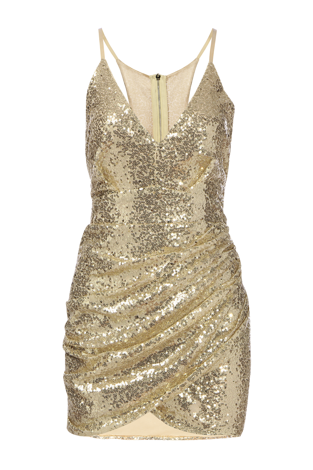 Cut Out Back Sequin Cami Dress