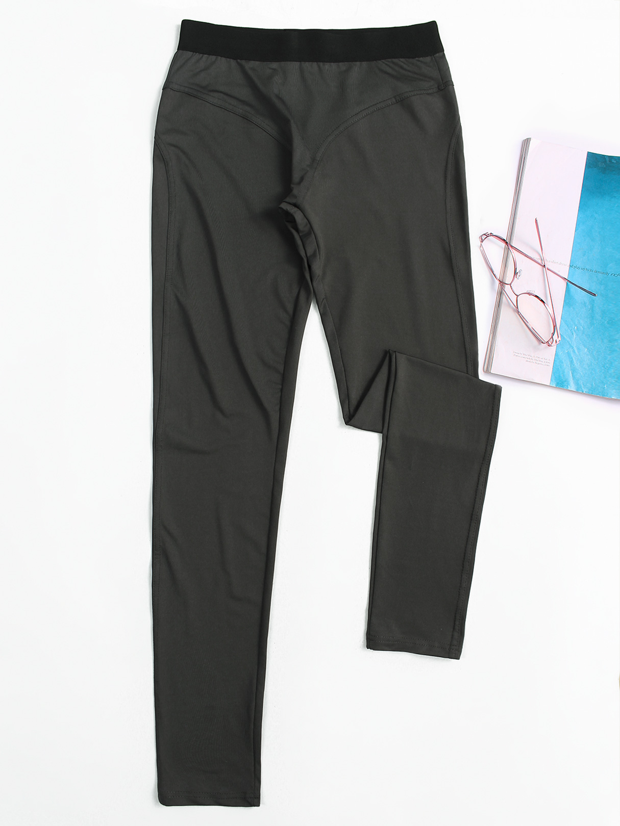 Active High Waist Yoga Leggings in Dark Grey