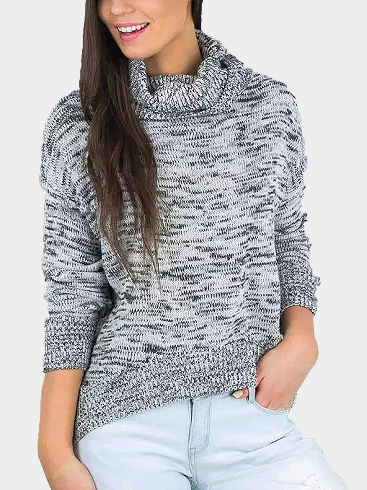 High Neck Kint Jumper