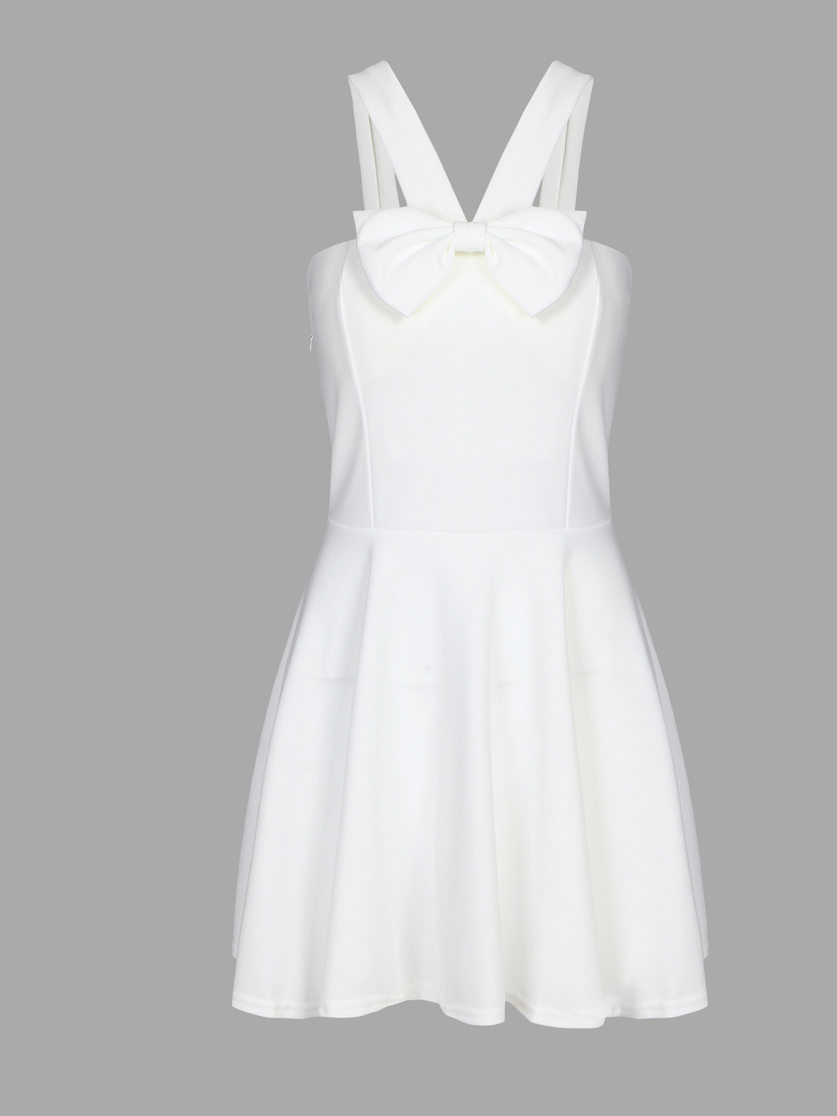 White Sexy Tube V-neck Bow Bodycon Mini Dress with Falsies sexy white lace hem lingerie with no falsies