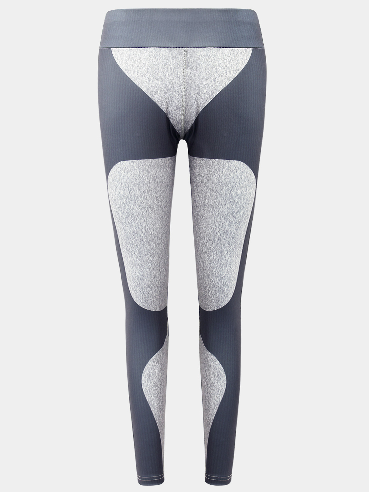 Active Heart Pattern Stitching Sports Leggings in Grey active net yarn stitching high waisted sports leggings in grey