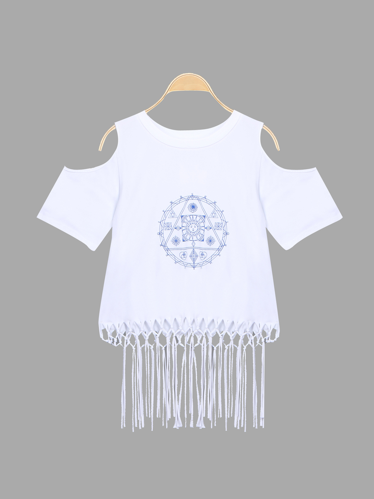 T-shirt With Tassel Details