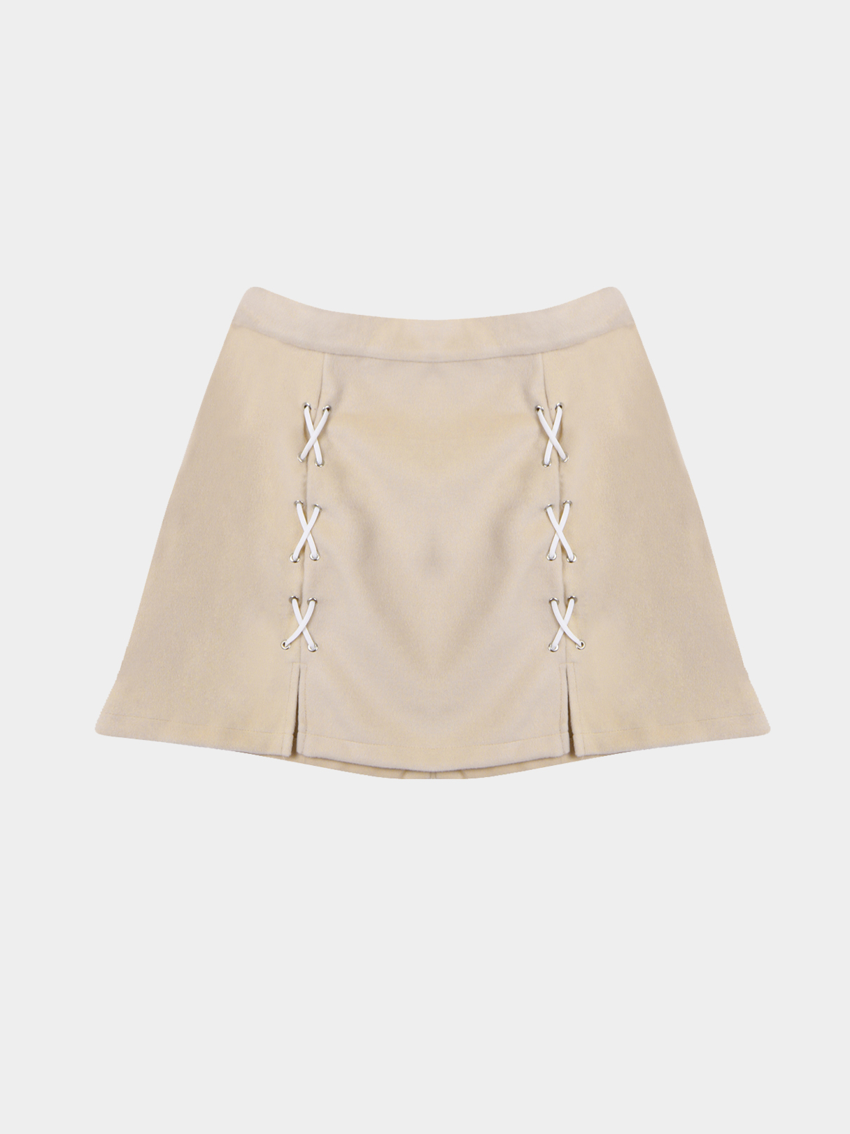 Side Split Lace-up Mini skirt