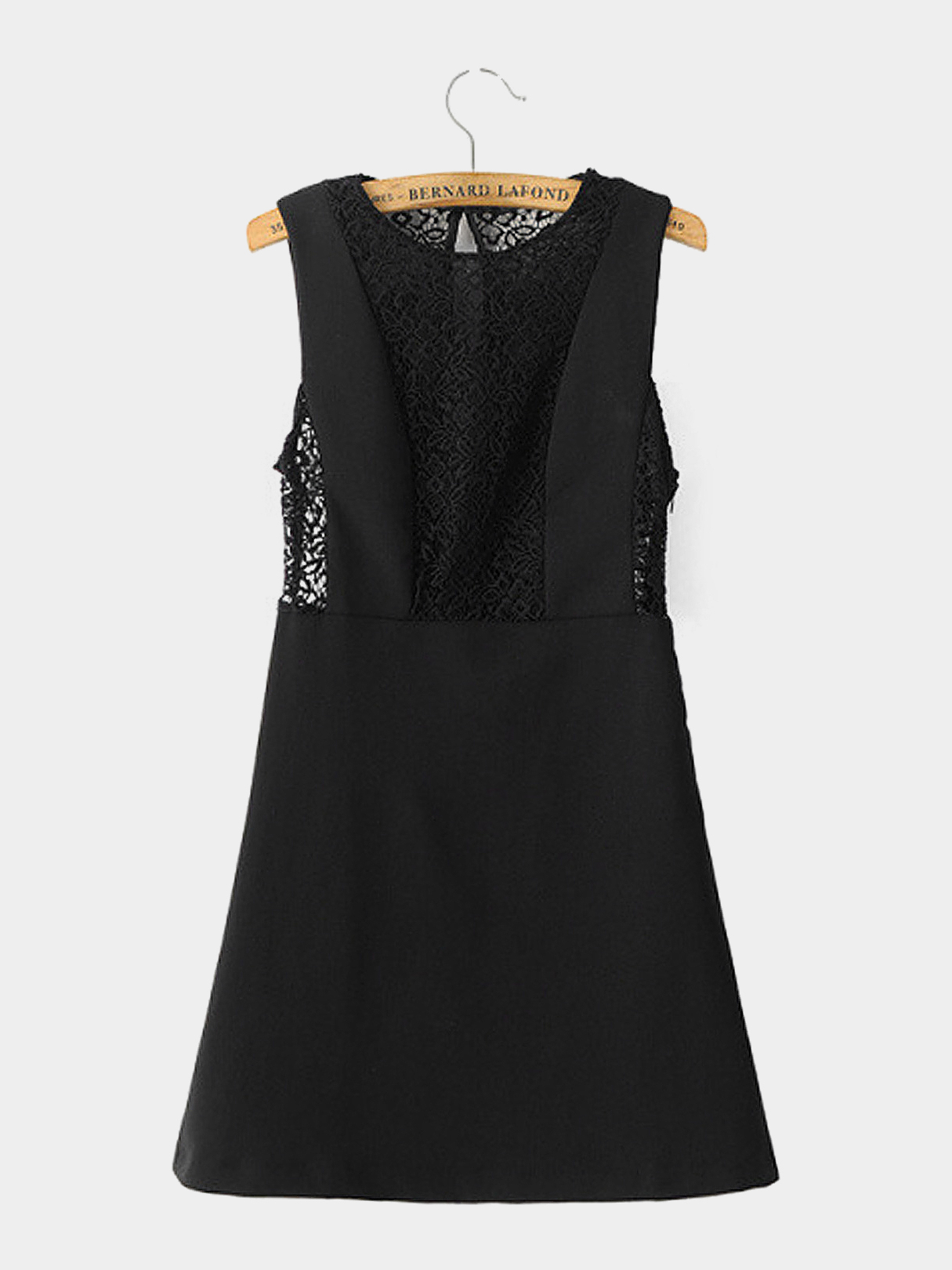 Sleeveless Lace Dress in Black