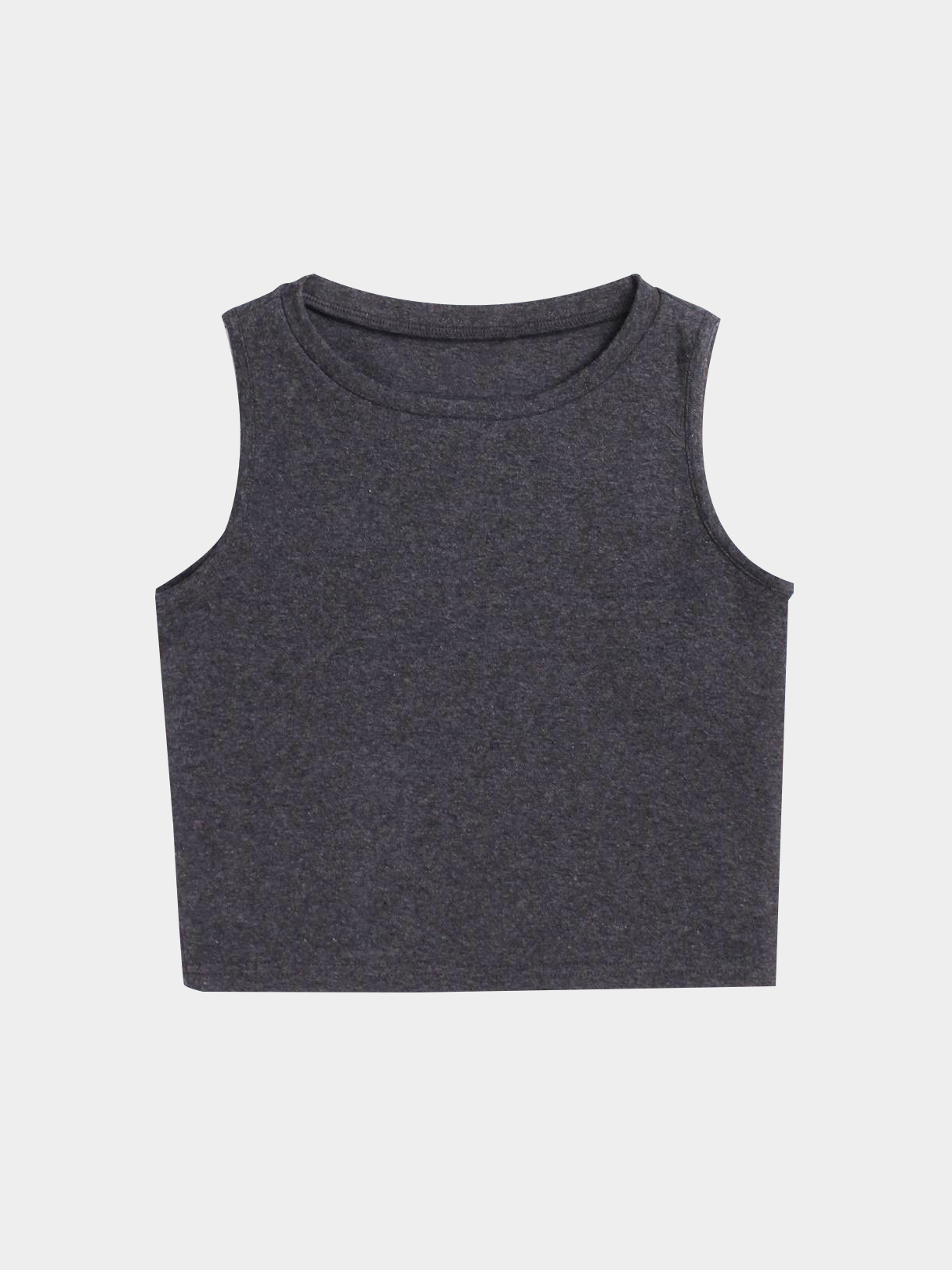 Active Cut Out Round Neck Quick Drying Elastic Vest in Dark Grey active round neck cut out letter pattern backless design sweatshirts in black