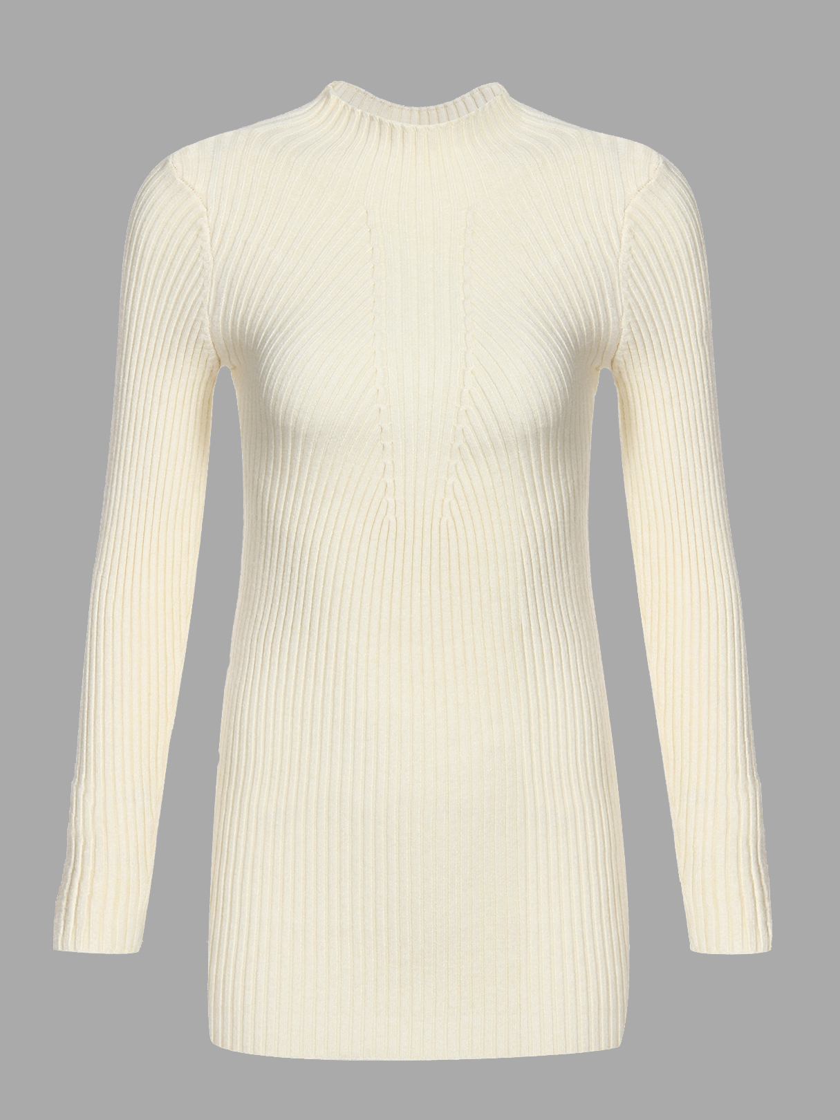 Beige Casual High Neck Pullover Long Sleeves Sweater charter club 4286 new womens b w knit long sleeves pullover sweater top m bhfo