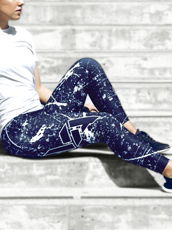 Active Random Floral Print Elastic Yoga Leggings in Black аксессуары для косплея random beauty cosplay
